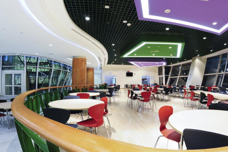 Image of the Al Bateen Academy cafeteria in Abu Dhabi