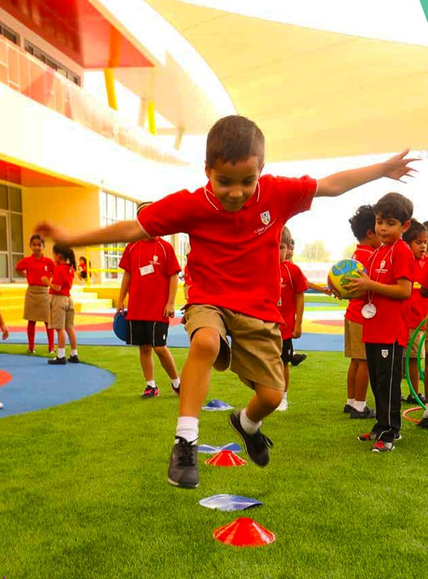 Photograph of children at play at West Yas Academy in Abu Dhabi