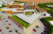 British Columbia Canadian School - a rendered aerial photograph of the school