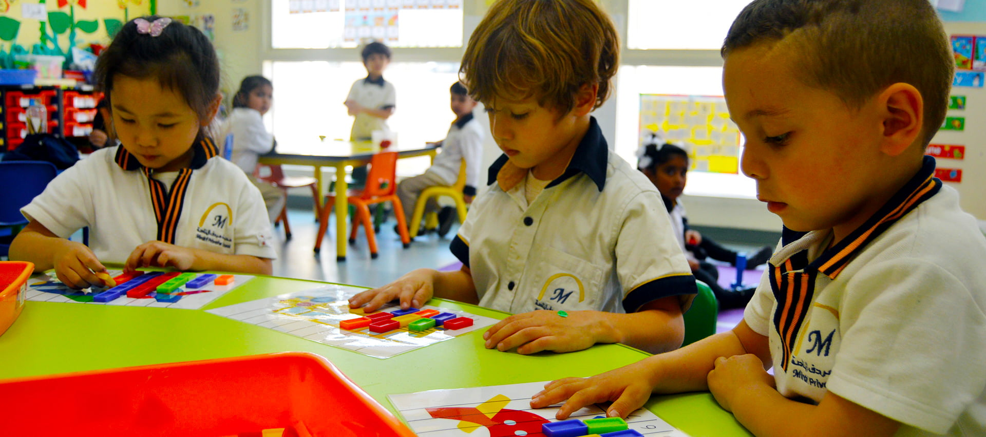 Image of children learning at Mirdif private School in Dubai