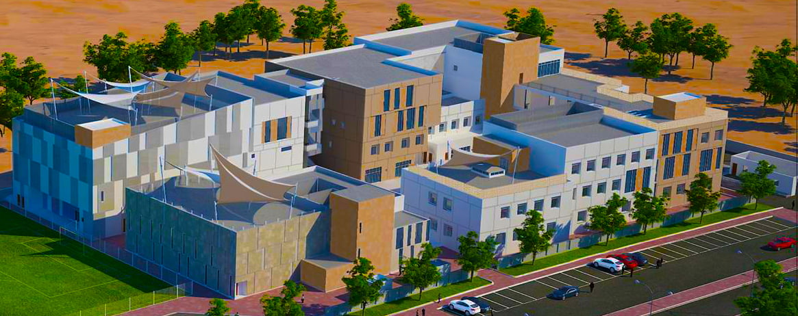 Artist's render of the new South View School in Dubai