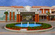 Photograph of the main building entrance to The Sheikh Zayed Private Academy for Boys